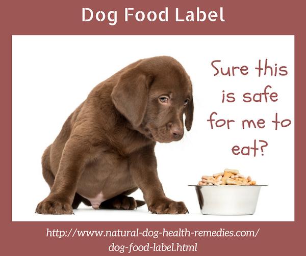 Dog Food Label
